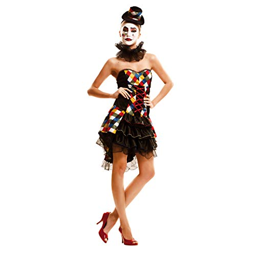 Zubehör Kostüm Dea - Partychimp 83-02296 - Sexy Clownie, Damenkostüm, M-L, schwarz