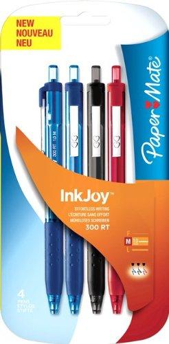 Preisvergleich Produktbild Papermate InkJoy 300RT Kugelschreiber, mittlere Spitze 4 Stück Assortiment Standard
