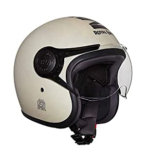 Royal Enfield Matt White Open Face with Visor Helmet Size (M)58 CM (RRGHEH000022)