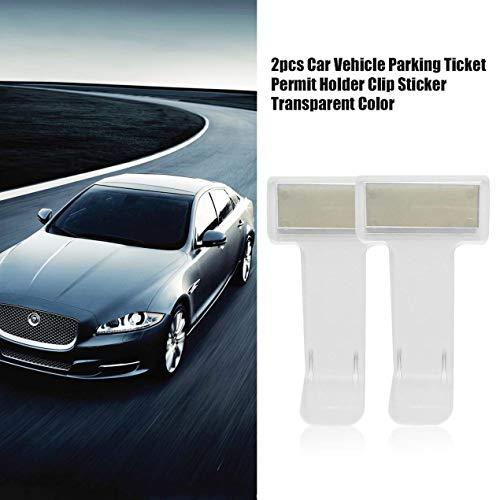 2pcs-auto-veicolo-parcheggio-biglietto-permesso-titolare-plastica-clip-adesivo-parabrezza-finestra-trasparente-colore-pasta