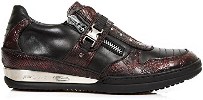 New Rock Boots M.HY033 C3 Urban Hardrock Punk Herren Sicherheits Sportschuhe Rot