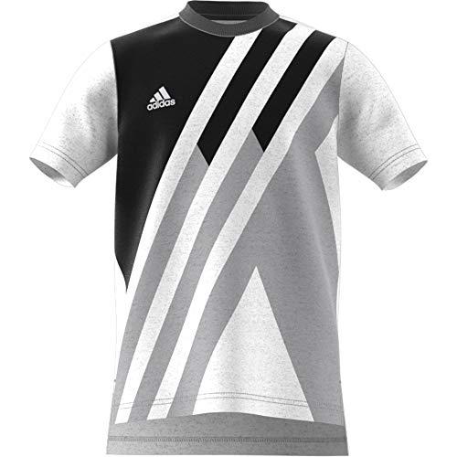 adidas Jungen X Kurzarm-Shirt, White Melange, 164 -