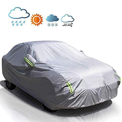 MATCC Copriauto Telo Copriauto Auto Impermeabile Pieghevole Anti UV Anti Pioggia Sole Aggiornamento 210T(440 * 180 * 160cm)