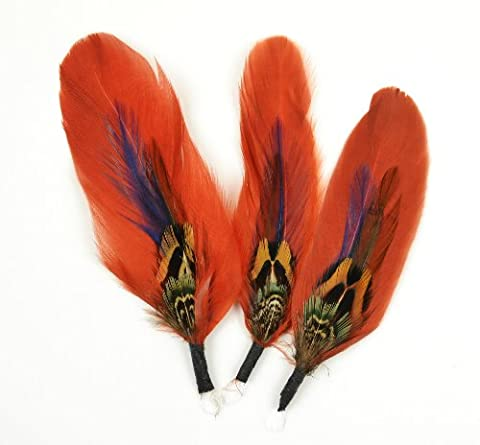 Touch of Nature 3-Piece Natural Feather Pick with Nylon Loop