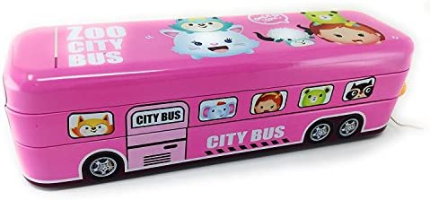 Stunning Bus Pull Back Pencil-Box | Compass Box with with with Wheels | String Operated for Birthday for Girls B07GJK4VP2 | Soldes