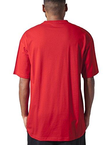 Urban Classics TB006 Herren T-Shirt Tall Tee | Oversize Shirt rot