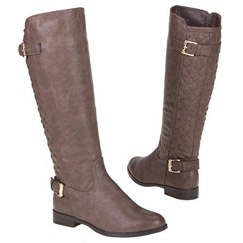 Damen Schuhe, MQ1731, STIEFEL Braun Grau
