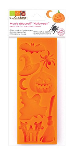 alloween Backform Teig Silikon Orange 21,7 x 9,5 x 0,8 cm (Scrapcooking Halloween)