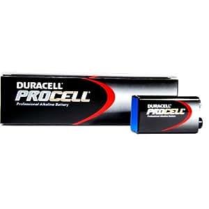 DURACELL PROCELL LOT DE 10 PILES ALCALINES 9 V PLUS