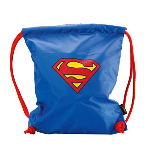 asserdichte Schuhbeutel für Kinder, Jungen und Herren - Schule und Kindergarten Sportbeutel, Sportrucksack (Superman - Original) ()