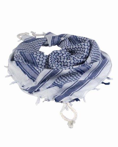 Mil-Tec Halstuch Shemagh 110X110cm Weiß/Blau