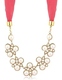Sukkhi Ethnic Gold Plated Scarf Necklace With Chain For Women