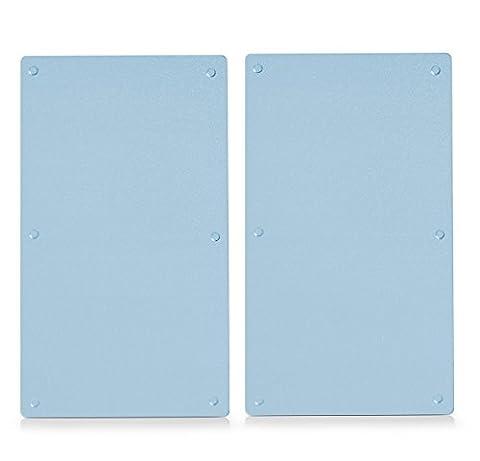 Zeller 26205 Planches à découper en verre pour plaque vitrocéramique Lot de 2 52 x 30 cm