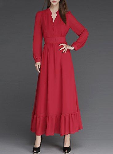 Futurino Damen Kleid Rot