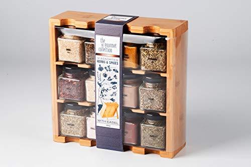 Gewürzregal mit 12 Gewürzen Gourmet Collection