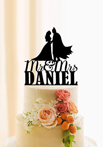 für Hochzeitstorte, personalisierbar, Superhelden-Motiv, personalisierbar ()
