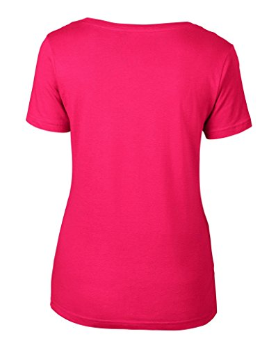 anvil Damen Lightweight Scoop Neck Tee tailliert / 391 Hot Pink