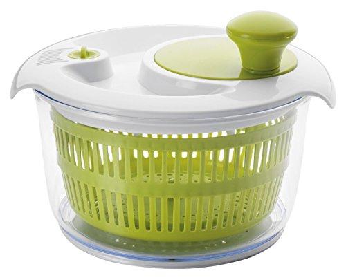 Ibili 783120 Essoreuse à Salade Plastique Blanc/Vert 20 cm