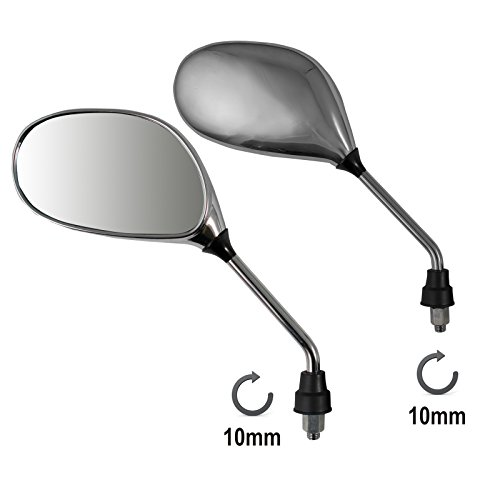 A-pro Mirrors Rearview Scooter Motorcycle Moped Motorbike Chrome M10