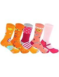 Supersox Kid's Regular Length Pack of 5 Combed Cotton Socks