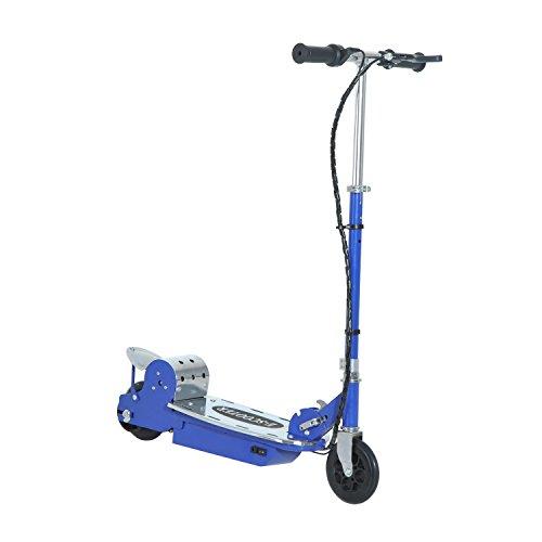 HOMCOM - Monopattino Elettrico Pieghevole per Bambini Scooter 120W, Velocità max: 13Km/h in Metallo e PE, Blu
