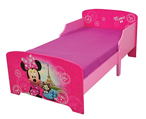 Fun House 712861 Disney Minnie Paris Cama Infantil 140 x 70 cm con Listones, MDF,...