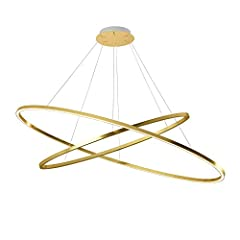 Idea Regalo - Nemo ellisse Double LED lampada a sospensione, Gold LxP 135 x 70 cm 5400 + 3900lm 2700 K