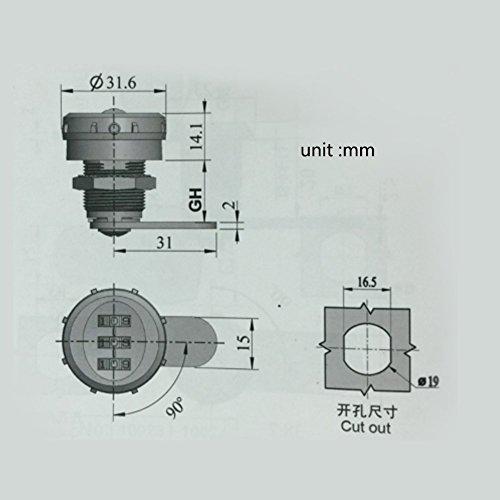 Yosoo Schrankschloss, mechanisch, Verriegelung, Schublade, Kennwort mit 3 Ziffern, für Schrank, Schublade, Briefkasten - 8
