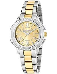 JUST CAVALLI Damen - Armbanduhr DECOR Analog Quarz Edelstahl R7253216503