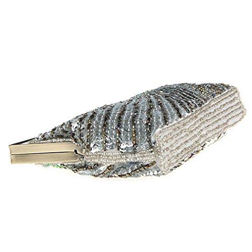 Belsen, Borsa a spalla donna multicolore Eye cat Taglia unica Silver