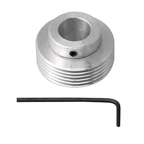 BQLZR Keilriemenscheibe, 40 mm Durchmesser, 16 mm Bohrung, silberfarben, Aluminium, 6 Zähne
