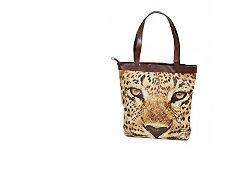 Borsa Pug e tigre o di circa 38 x 10 x 35 cm, tigre (Marrone) - 15532 tigre