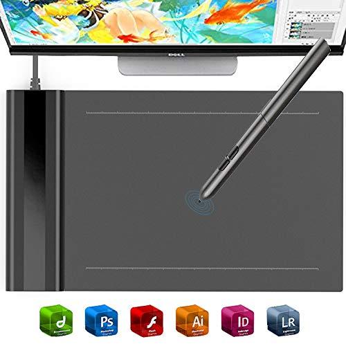 EJOYDUTY 4 x 6 elektronisches Zeichenbrett, Digit Grafiktablett, für Business, Zeichenanfänger, Kompatibel mit Windows, Mac, Drawing Software (Software Signieren Digitales Von)