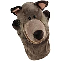 Soft Plush Cute Cartoon Animal Hand Puppets friendGG Moving Mouth Cartoon Puppet for Kids Adults Children Play Learn Story Toy Doll Glove Educational Stuffed Toy Tool Game (as the picture, Coyote)