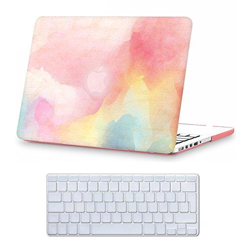 Case MacBook Pro 13 Retina Hülle ?iCasso Regenbogen Design Ultra Slim Dünn Kratzfeste matt rutschfest Hartschale Kunststoff Schutzhülle Snap case für MacBook Pro 13 Zoll Retina (Modell: A1425 / A1502)