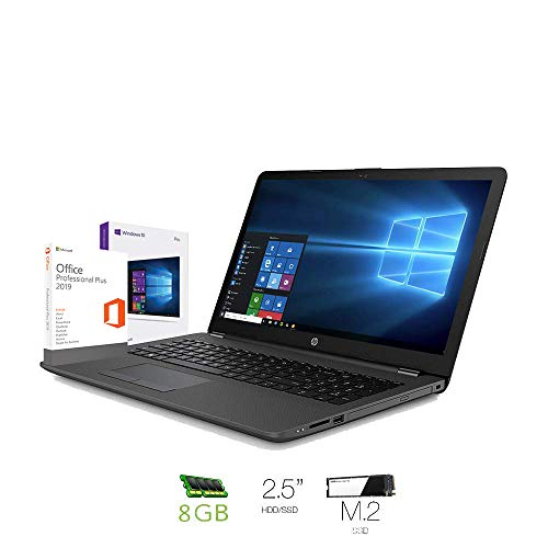 Hp 250 g7 Notebook intel core i5 8265U, Ram 8Gb Ddr4,Ssd M.2 240 Gb + Hard disk 500 Gb,Dispaly 15.6'Hd antiriflesso,Pc portatile Windows 10 Professional,Office pro 2019