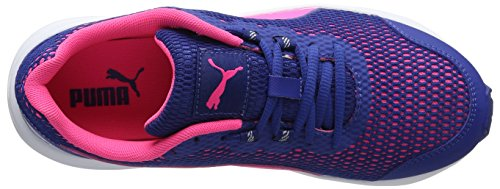 Puma Descendant V4 Wn's, Chaussures de Running Compétition Femme, 36 EU Bleu (True Blue-knockout Pink 08)