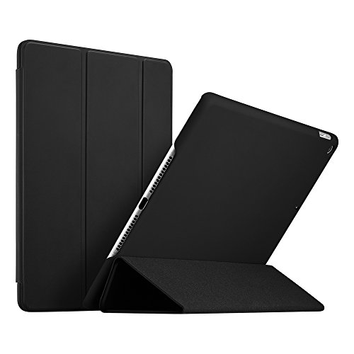 ESR Ultra Dünne Hülle Kompatibel mit iPad 2018 / iPad 2017 Modell 9,7 Zoll - Smart Case Cover mit Gummierter Rückseite Schutzhülle - Magnet mit Auto Sleep/Wake Funktion - Schwarz (Schwarz Cover Smart Ipad)