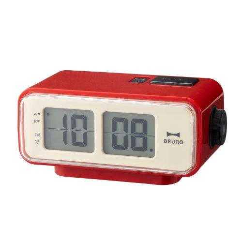 Retro Digital Flip Desk Alarm Clock Red