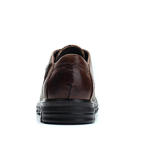 Uomo Spessore inferiore Attività commerciale Vestito formale Scarpe di pelle Ballerine Antiscivolo Scarpe da lavoro euro DIMENSIONE 38-44 Black