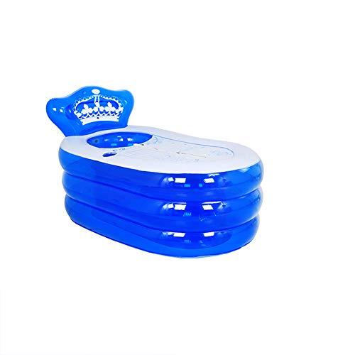 CKR PVC Beweglich Faltbare Erwachsene Spa Folding Aufblasbare Badewanne Badewanne Kinder Kid Pool Mit Elektrischer Luftpumpe, Zwei Farben,Blau