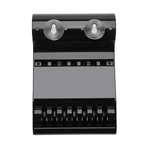 Zerone 6 Grids Boîte de rangement de stockage Ciseaux en plastique Premium et durable pour ranger les tables du salon noir