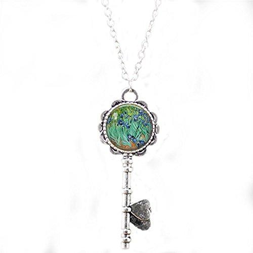 qws Irises Vincent Van Gogh - Impressionistische Blumen Schlüsselanhänger - Van Gogh Schlüsselanhänger - Iris Schlüsselanhänger - Blue Iris