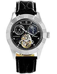 Continuum Herren-Armbanduhr Automatik Analog Leder Schwarz - CO15015A