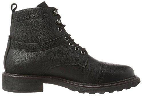 Hudson London Herren Fernie Biker Boots Schwarz (Black)