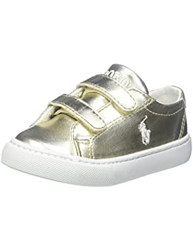 Polo Ralph Lauren Slater Ez C Gold Synthetic Junior Trainers
