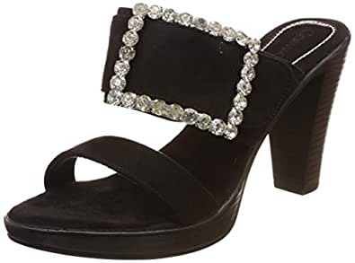 Catwalk Women's Embellished Buckle Slip Ons