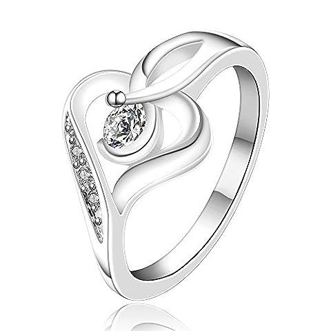 hmilydyk Jewelry Damen 925Sterling Silber vergoldet Fashion Classic Swarovski Element Kristall Ring