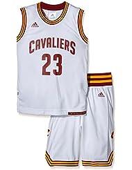 Maillot et Short Junior ADIDAS NBA Cleveland Cavaliers Lebron James Blanc
