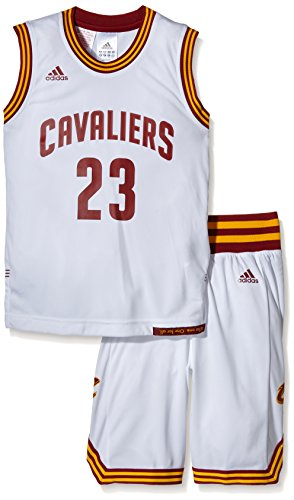 adidas Jungen Trikot Cleveland Cavaliers Kit, weiß, 128, AC4572